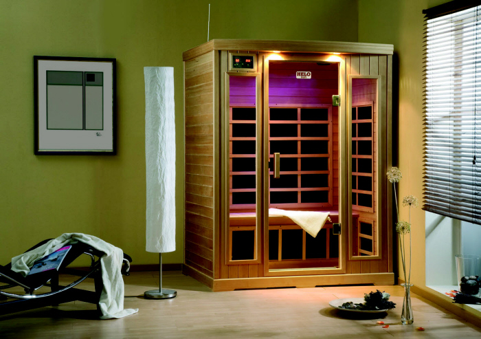 infrarot w rmekabine helo sun 5 mit fl chenheiztechnik von kn llwald sauna. Black Bedroom Furniture Sets. Home Design Ideas